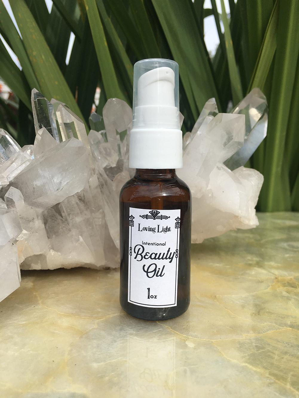 Beauty Oil 2 oz front label