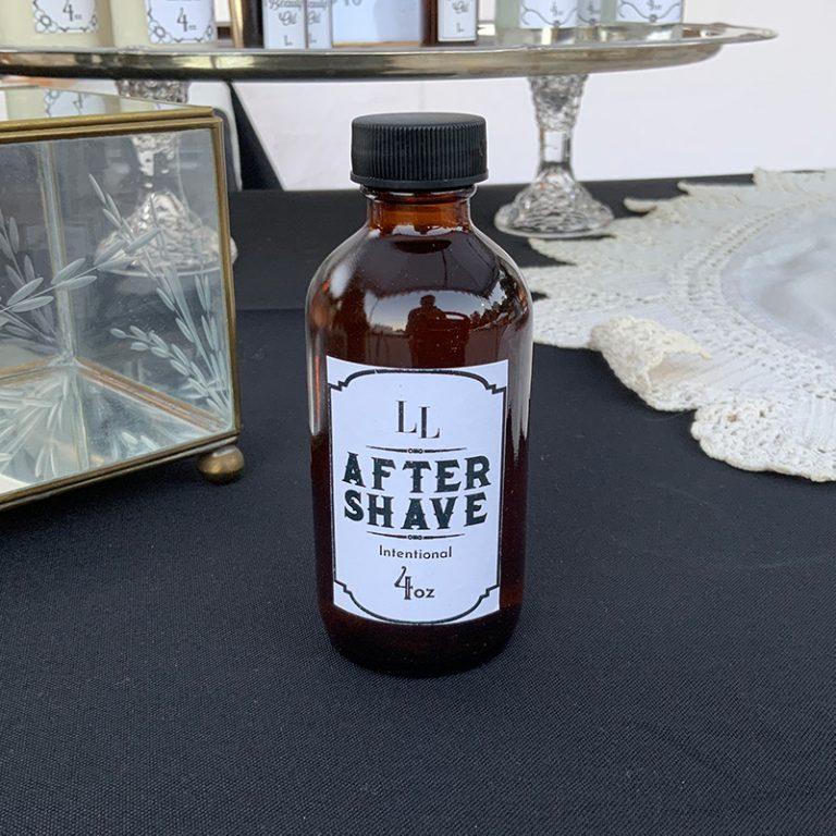Men's Aftershave in a brown 4 oz bottle