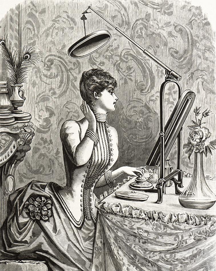 victorian beauty illustration